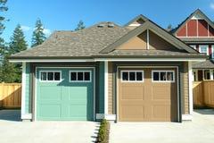 Garagens para casas residenciais Imagens de Stock Royalty Free