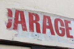 Garagenzeichen Lizenzfreies Stockbild