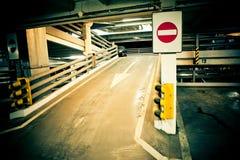 garageparkering Arkivbild