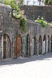 Garages de la cárcel Imagen de archivo