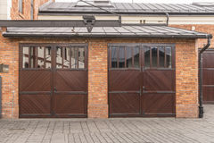 Garages and door royalty free stock photography