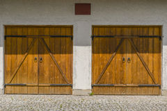Garages and door Royalty Free Stock Images