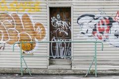 Garages en deur Stock Foto