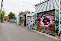 Garages and Graffiti in Toronto Stock Photo