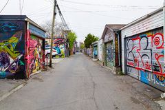 Garages and Graffiti in Toronto Stock Photography
