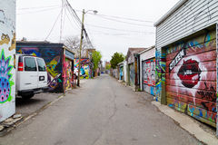 Garages and Graffiti in Toronto Royalty Free Stock Photos