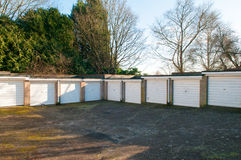 Garages in a residential area. Private Garages in a residential area stock photo