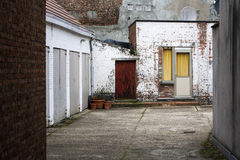 Garages in a residential district of a city Stock Images