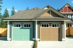 Garages For Residential Homes Royalty Free Stock Images