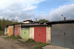 Garages, sheds Royalty Free Stock Images