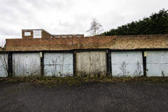 Garages urbains en état de diminution des effectifs Image libre de droits