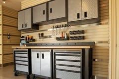Garageworkspace Arkivfoton