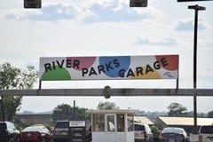 Garaje Memphis céntrica, TN de los parques del río fotografía de archivo