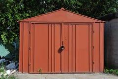 Garaje oxidado del metal Fotos de archivo