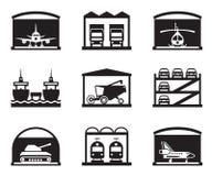 Garajes del transporte Imágenes de archivo libres de regalías