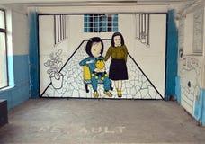 Garajul Ciclop: Graffiti in Bucharest, Romania Royalty Free Stock Photos