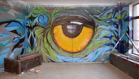 Garajul Ciclop: Graffiti in Bucharest, Romania Stock Photos