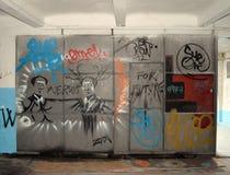 Garajul Ciclop: Graffiti in Bucharest, Romania Royalty Free Stock Image