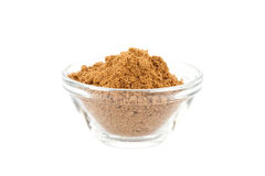 Garam masala in glass bowl Stock Image