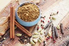 Garam masala. Homemade garam masala - herbs and spices Royalty Free Stock Photos