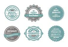 Garantía, calidad superior y el mejor vintage bien escogido del vector Imagen de archivo libre de regalías