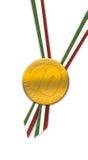 Garantía de la medalla de oro imagen de archivo libre de regalías
