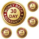Garantía de la parte posterior del dinero Foto de archivo