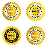 Garantía del reembolso del dinero Foto de archivo libre de regalías