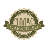 Garanteed vintage green round tag Royalty Free Stock Photos