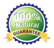 garanterad den naturliga etiketten arkivfoto