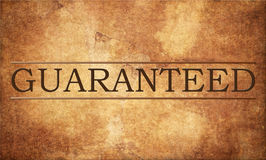 garanti Image stock