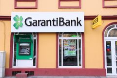 Garanti Bank in Romania Royalty Free Stock Image