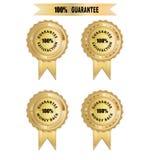 Garanti för emblem 100 Fotografering för Bildbyråer