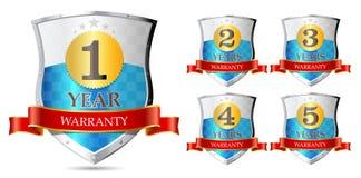 Garantia 1, 2, 3, 4, 5 anos ilustração royalty free