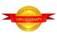 garantia 3d 100 precent em um fundo branco Imagens de Stock Royalty Free