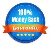 Garantia da parte traseira do dinheiro de 100 por cento Fotografia de Stock Royalty Free