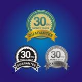 30 - garantia da parte traseira do dinheiro do dia Fotografia de Stock Royalty Free