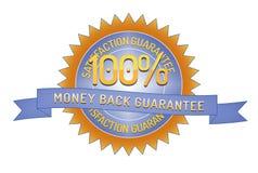 Garantia 100% da parte traseira do dinheiro da satisfação Foto de Stock