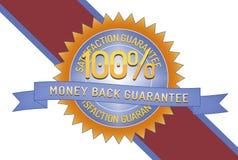 Garantia 100% da parte traseira do dinheiro da satisfação Fotografia de Stock Royalty Free