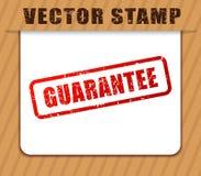 Garantie abgedämpft auf Weißbuch Stockbilder