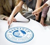 Garantie-Ausweis Logo Premium Concept der hohen Qualität Stockbild