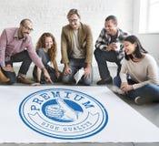 Garantie-Ausweis Logo Premium Concept der hohen Qualität Stockbilder