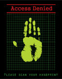 Garantie biométrique illustration de vecteur