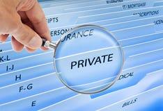 Garantie d'intimité de fichiers privés images stock