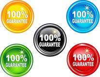 garantie de 100 boutons Images stock