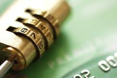Garantie de carte de crédit Photo stock