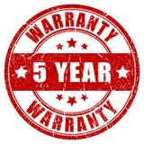 Garantie de cinq ans illustration libre de droits
