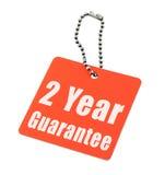 Garantie de deux ans Photo libre de droits
