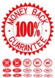 Garantie de dos d'argent Image stock