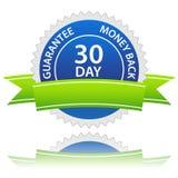 garantie de dos d'argent de 30 jours Photos stock